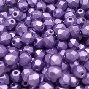 4mm HQ Metallic Lavender Fire Polished Round Bead (600pc)