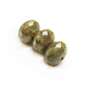 6x9mm Pistachio Czech Glass Faceted Puffy Rondelles Loose (300pc)