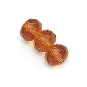 6x9mm Topaz Faceted Puffy Rondelles Loose (300pc)
