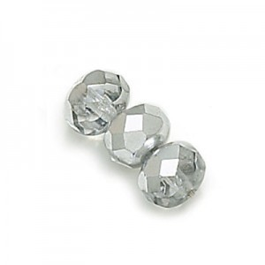 2.5x4mm Crystal Silver Faceted Puffy Rondelles Loose (600pc)