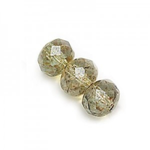 2.5x4mm Lumi Green Faceted Puffy Rondelles Loose (600pc)