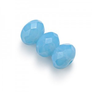 6x9mm Powder Blue Faceted Puffy Rondelles Loose (300pc)