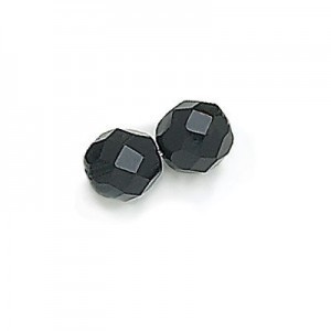 4mm Jet Fire Polished Round Bead Loose (600pc)