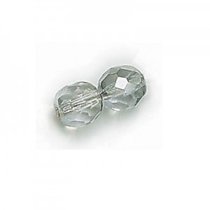4mm Platinum Fire Polished Round Bead Strung (600pc)