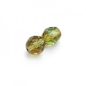8mm Tropical Topaz Fire Polished Round Bead Loose (300pc)