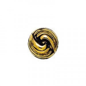 10mm French Knot Round Bead Antique Gilt