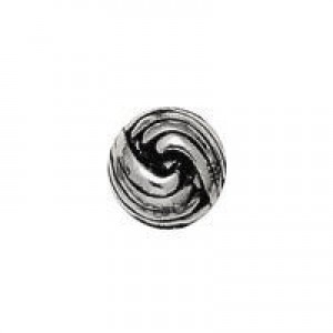 10mm French Knot Round Bead Antique Silver