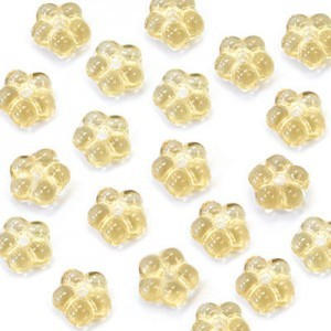 5mm Amber Buttercup™ Flower Czech Glass Beads with Center Hole Loose (600pc)