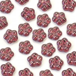5mm Dark Amethyst Shimmer Buttercup™ Flower Czech Glass Beads with Center Hole Loose (600pc)