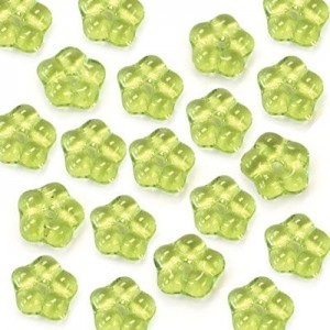 5mm Olivine Buttercup™ Flower Czech Glass Beads with Center Hole Loose (600pc)
