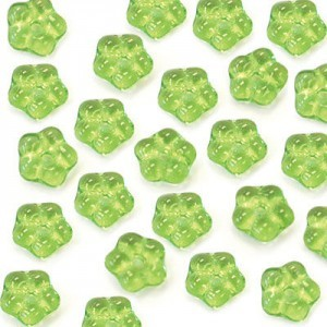 5mm Peridot Buttercup™ Flower Czech Glass Beads with Center Hole Loose (600pc)