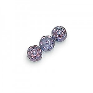 8mm Lumi Amethyst Flower Glass Beads Loose (300pc)