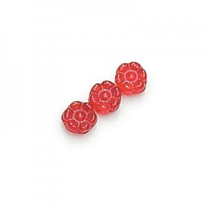8mm Siam Flower Glass Beads Loose (300pc)
