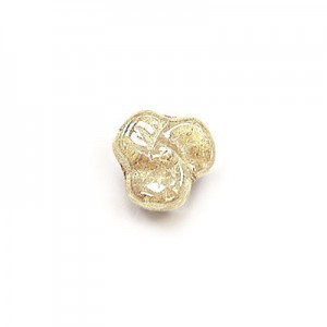 9mm Crystal Champagne Glass Trillium Flower Beads Loose (300pc)