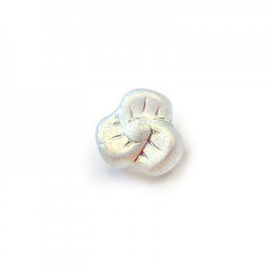 9mm Frosted Crystal AB Glass Trillium Flower Beads Loose (300pc)