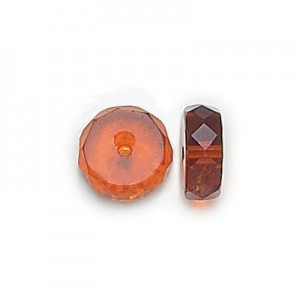 8x4mm Madeira Topaz Fire Polished Rondelles Loose (300pc)