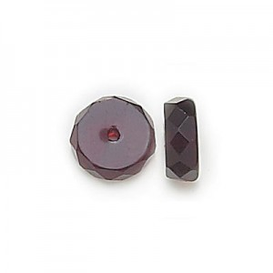 6x3mm Garnet Czech Glass Fire Polished Rondelles Loose (600pc)