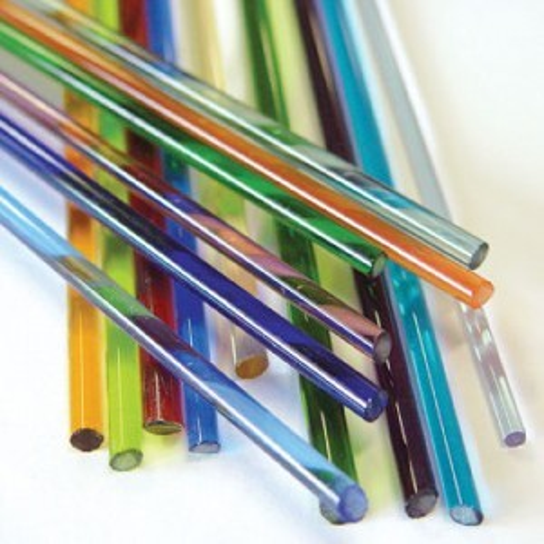 Set of 15 Transparent Glass Rods (Retail $27.95)
