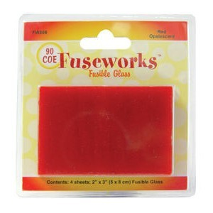 Opal Red Coe90 4pc 2x3 Inch (Retail $4.99)