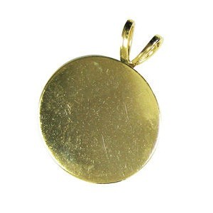 Gold Pendant Round 4 Pc (Nickel-Free, Lead-Free) (Retail $4.99)