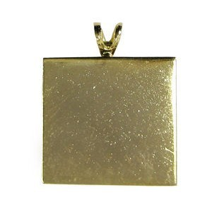 Gold Pendant Square 4 Pc (Nickel-Free, Lead-Free) (Retail $4.99)