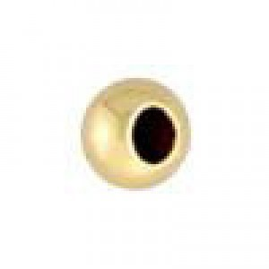 4mm Seam Round Bead Large Hole 1.70mm 14k Gold Filled 50pcs