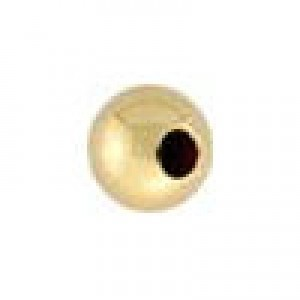4mm Seam Round Bead 1.10mm Hole 14k Gold Filled 50pcs