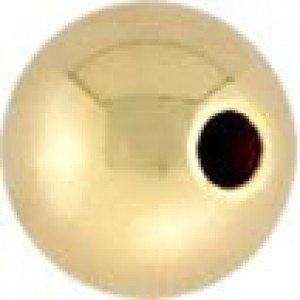 10mm Seamless Round Bead 2.7mm Hole 14k Gold Filled 5pcs