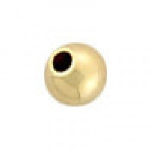 4mm Seamless Round Bead 1mm Hole 14k Gold Filled 50pcs
