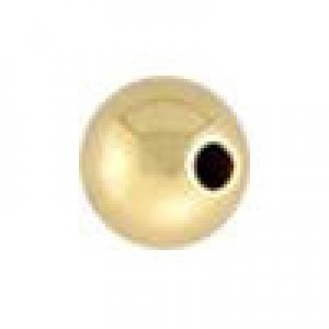5mm Seamless Round Bead 1.4mm Hole 14k Gold Filled 50pcs