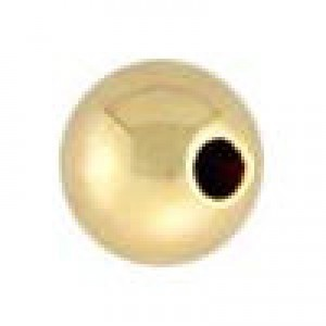 6mm Seamless Round Bead 1.5mm Hole 14k Gold Filled 10pcs