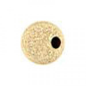 5mm Stardust Round Bead 1.4mm Hole 14k Gold Filled 50pcs