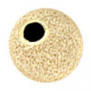 8mm Stardust Round Bead 2.2mm Hole 14k Gold Filled 10pcs