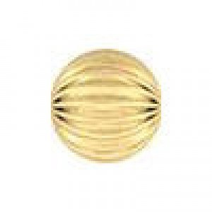 5mm Corrugated Round Bead 1.5mm Hole 14k Gold Filled 50pcs