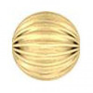 7mm Corrugated Round Bead 2.0mm Hole 14k Gold Filled 10pcs