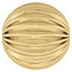 9mm Corrugated Round Bead 2.2mm Hole 14k Gold Filled 5pcs