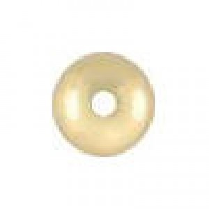 4.7x2.4mm Smooth Saucer (.050-.055 Inch Hole) 14k Gold Filled 50pcs