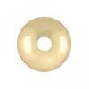 5.5x3.3mm Smooth Saucer (.055-.060 Inch Hole) 14k Gold Filled 50pcs