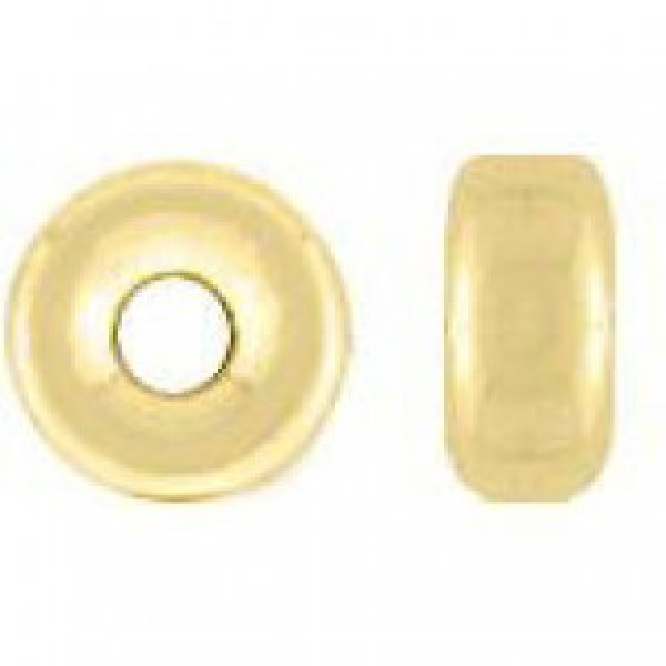 8.1x4.1mm Smooth Rondelle 14k Gold Filled 10pcs