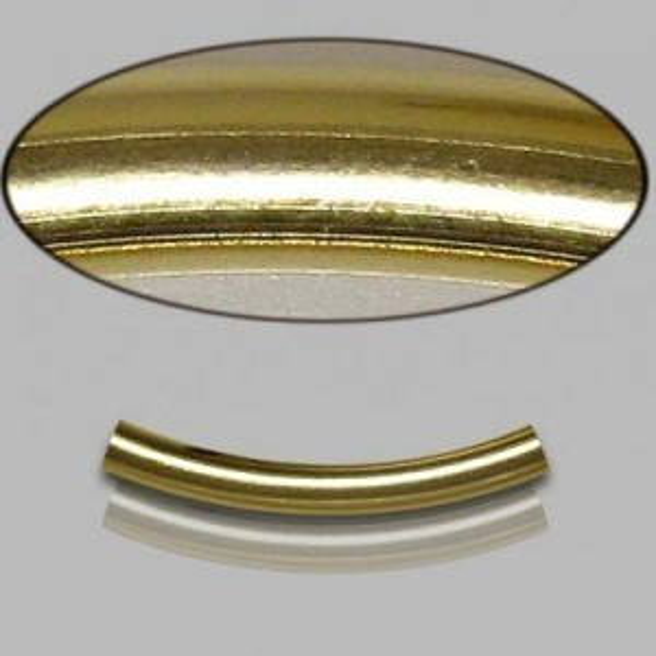 3x25mm Gold Filled Noodle Tube Plain 5pcs