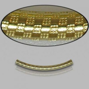 2x25mm Gold Filled Noodle Tube Checkers 5pcs