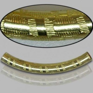 4x35mm Gold Filled Noodle Tube Egyptian 5pcs