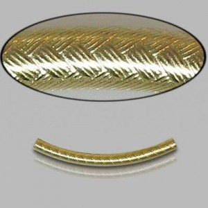 2x25mm Gold Filled Noodle Tube Wicker 5pcs