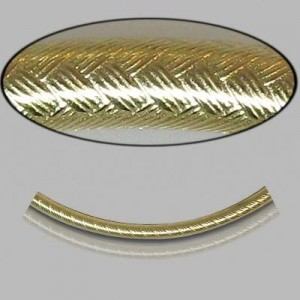 2x30mm Gold Filled Noodle Tube Wicker 5pcs