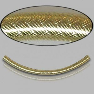 2x35mm Gold Filled Noodle Tube Wicker 5pcs
