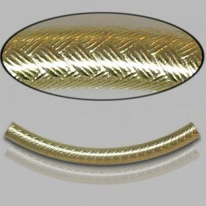 3x35mm Gold Filled Noodle Tube Wicker 5pcs