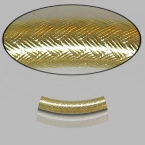4x20mm Gold Filled Noodle Tube Wicker 5pcs
