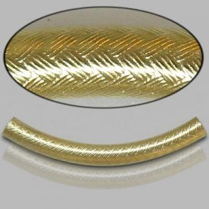 4x35mm Gold Filled Noodle Tube Wicker 5pcs