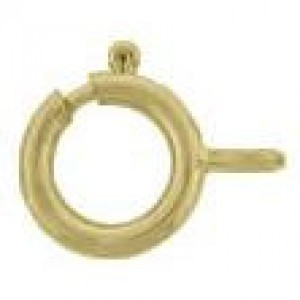 6mm Spring Ring W/ Closed Ring 14k Gold Filled 50pcs