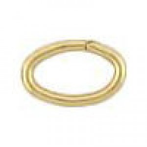 4.1x6.4mm 20g(0.76mm) Open Oval Jump Ring 14k Gold Filled 50pcs